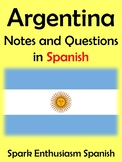 Argentina Notes and Questions in Spanish