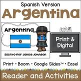 Argentina Reader {en español} & Vocab pages ~ Simplified for Language Learners