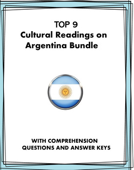 Argentina Spanish Reading Bundle: Lectura y cultura: 8 Readings at 40% off!