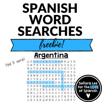 Argentina WORD SEARCH