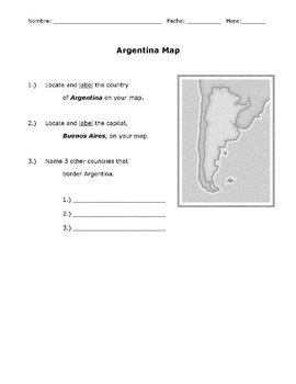 Argentina Weather & Seasons Spanish Project (Goes with Free Webquest)