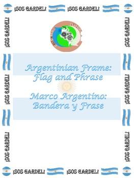 Argentinian Frame: Flag and Phrase SOS GARDEL!