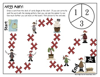 Argg! Matey! -Ar and -Or Word Work Activities