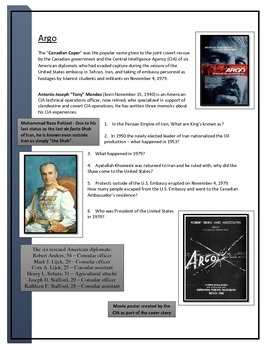 Argo - Movie worksheet