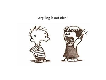 Social Story called Arguing is not nice.