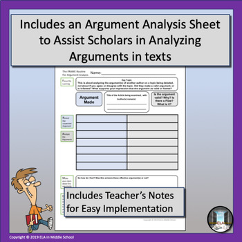 Argument Analysis FRAME with Stems