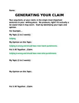 Argument Basics: Generating a POWER Claim