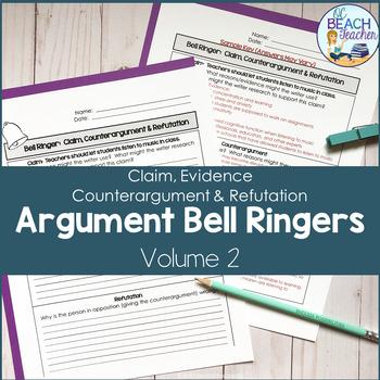 Argument Bell Ringers #2: Claim, Counterargument & Refutation