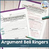 Argument Bell Ringers #2: Claim, Counterargument & Refutation