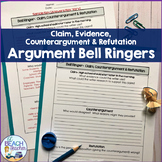Argument Bell Ringers: Claim, Evidence, Counterargument & Refutation