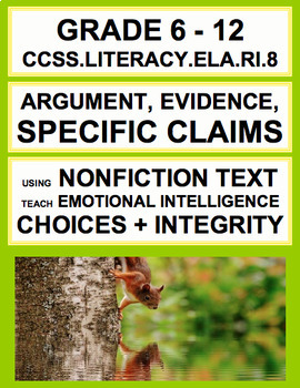 Argument, Claims + Evidence with SEL Nonfiction Article about Positive Choices