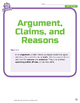 Toolkit of Reading: Argument, Claims, and Reasons