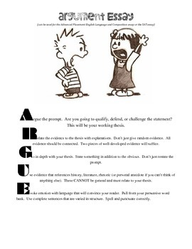 Argument Essay Acronym Graphic
