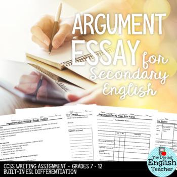 Argument Essay (CCSS Aligned - Grades 7-12)