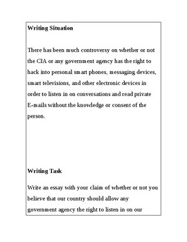 Argument Essay-Does our government have the right to hack