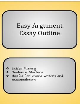 Argument Essay Easy Outline