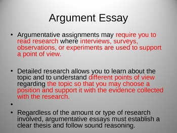 Argument Essay Easy to Execute  Powerpoint