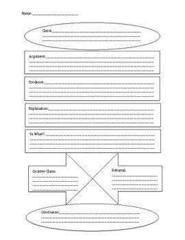 Argument Essay Fill-in Chart