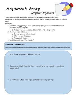 Argument Essay Graphic Organizer