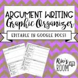 Argument Essay Graphic Organizer - EDITABLE IN GOOGLE DOCS
