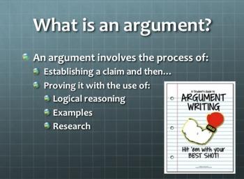Argument Essay: Intro, Outline, Rubric