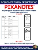 Argumentative Essay Organization Pixanotes® + Dominoes Game! (text-based)