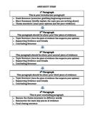 Argument Essay Outline - Anchor Chart