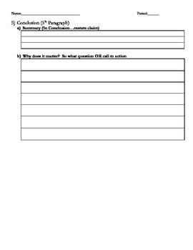 Argument Essay Outline - Beginning