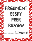 Argument Essay Peer Review Sheet & Peer Review Procedure