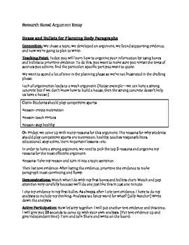 Argument Essay Planning