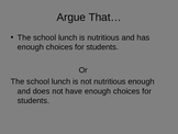 Argument Essay PowerPoint with Topics for the School Year