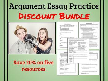 Argument Essay Practice Discount Bundle