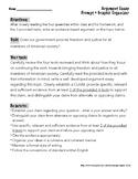 Argument Essay Prompt + Graphic Organizer