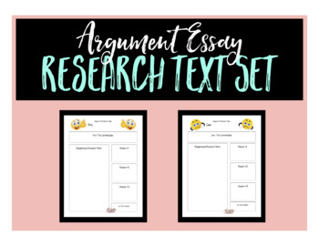 Argument Essay Research Topic Text Sets - Animal Testing
