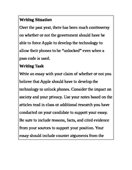 Argument Essay: Should Apple Be Forced to Unlock Our Phones