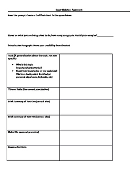 Argument essay skeleton by amanda moorman teachers pay teachers argument essay skeleton altavistaventures