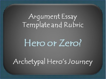 Argument Essay Template and Rubric