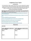 Argument Essay Unit