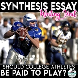 Argument Essay Unit - Should College Athletes be Paid to Play?