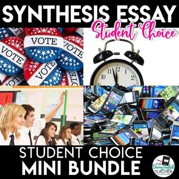 Argument Essay Unit - Student Choice - Four Topics