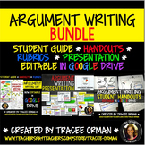 Argument Essay Writing BUNDLE Editable Google Drive
