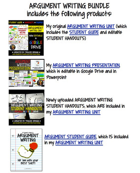 Argument Essay Writing BUNDLE Editable Google Drive Distance Learning