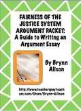Argument Essay on the Fairness of the Justice System: Step by Step Writing Guide