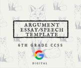 Argument Essay or Presentation Template