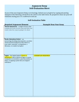 Argument Essays - Key Elements, Writing, and Editing