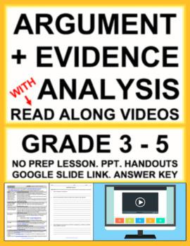 Argument & Evidence Analysis Activities & Lesson Plan using FILM:CCSS.ELA.RI.8