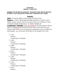 Argument Game - 20 Questions (Writing Assignment)