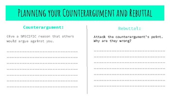 Argument Graphic Organizer