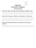 Argument Introduction Sentence Frames