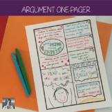 Argument One-Pager Activity (Distance Learning)